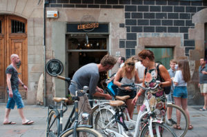 Bike rental shop in Barcelona
